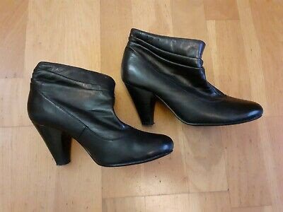 Ladies Black Ankle Boots By Red Herring Size 4 • 4.80£