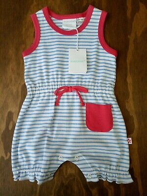 AU18 • Buy Marquise Romper Blue & White Stripe, Size 000 0-3 Months BNWT - RRP $34.95