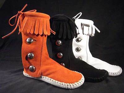 $119.97 • Buy New Kid's Taos  Indian Maid  Moccasin Boots Fringe 574 Youth