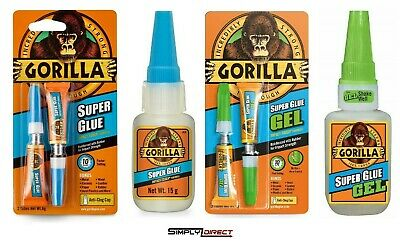 Genuine Gorilla Glue Products: Multi-Purpose Super Glue And Gel, Strong Adhesive • 5.99£