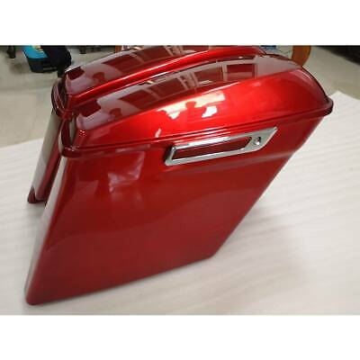 $319.60 • Buy 5  Red Stretched Extended Hard Saddle Bags For Harley Touring Road Glide 2014-Up