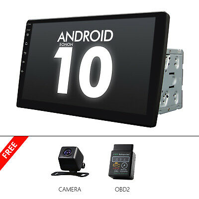 $ CDN312.77 • Buy CAM+OBD+10.1  Car GPS Android 10 Stereo Radio Double 2 DIN Player Wifi Universal