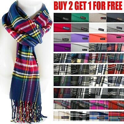 $6.98 • Buy Mens Womens Winter Warm SCOTLAND Made 100% CASHMERE Scarf Scarves Plaid Wool