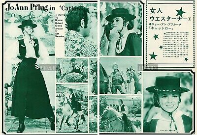 $ CDN6.88 • Buy JO ANN PFLUG YUL BRYNNER Catlow 1971 Japan Picture Clippings 2-SHEETS Mb/r