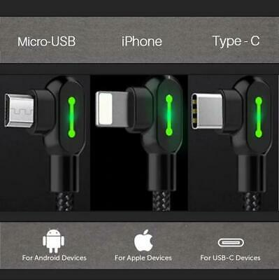 AU25.99 • Buy New TITAN POWER+ Smart Cable 3.0 Iphone Type-C Micro-USB Charging Cable Hot