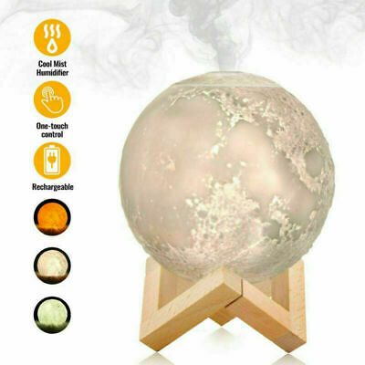 AU17.69 • Buy Air Humidifier 3D Moon Lamp Night Light Aroma Diffuser USB Home Purifier