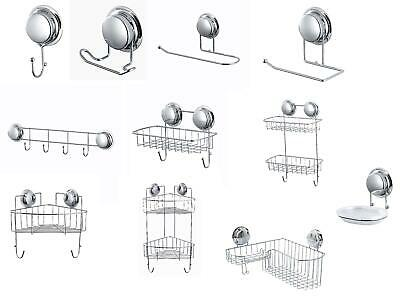 £18.99 • Buy Super Suction Cup No Drill Bathroom Shower Wall Storage Accessories