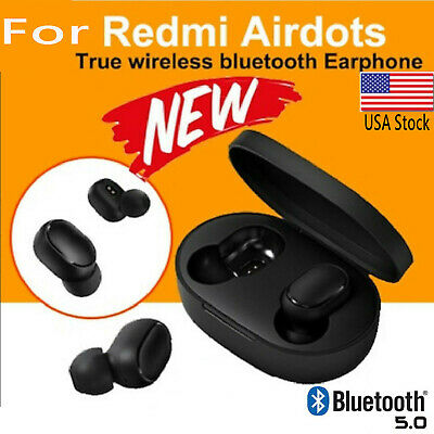 USA  For XIAOMI Redmi AIRDOTS WIRELESS EARPHONE W/ CHARGER BOX Bluetooth 5.0 • 12.99$