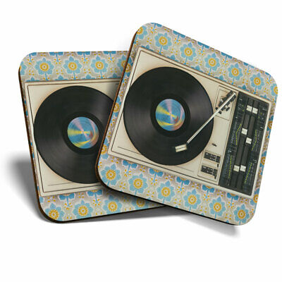 2 X Coasters - Retro Old Vinyl Record Player Music Home Gift #24109 • 4.99£