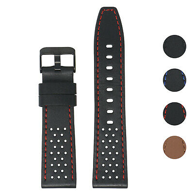 $ CDN32.71 • Buy StrapsCo Perforated Leather Watch Band Strap For Fitbit Versa / 2 / Lite