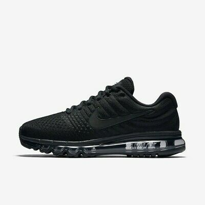 Nike Air Max 2017 Triple Black 849559-004 Men's Running Shoes NEW! • 149.95$