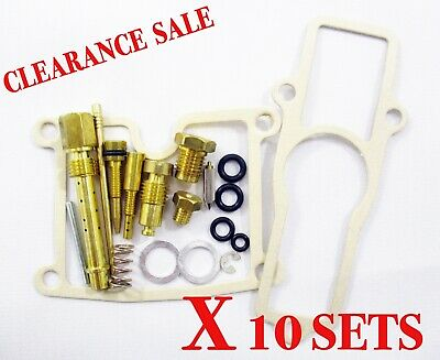 AU77.25 • Buy Kawasaki Z400fx Z400 Fx Carburetor Carb Repair Rebuild Kit X 10 Set [tw111]