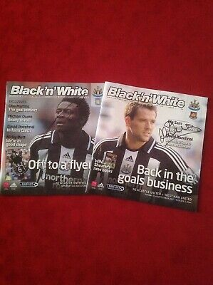 Newcastle United Football Programmes 2007. Signed By Owen And Martin. • 23£