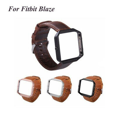 $ CDN15.24 • Buy For Fitbit Blaze Watch Genuine Leather Band Strap Wristband+Frame Replacement