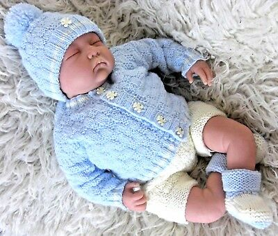 £3.97 • Buy DK Baby Knitting Pattern Instructions To Knit Boys Easy Cardigan Hat Booties Cal