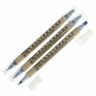 Zig Calligraphy Markers - Blending Collection - Cool Blues • 8.89£