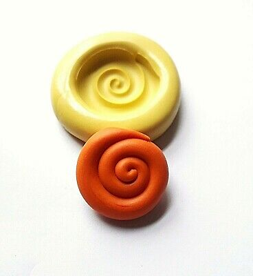 SWIRL Silicone Mould 25 Mm FOOD SAFE Cake Decorate Polymer Clay Icing Fimo • 5.50£
