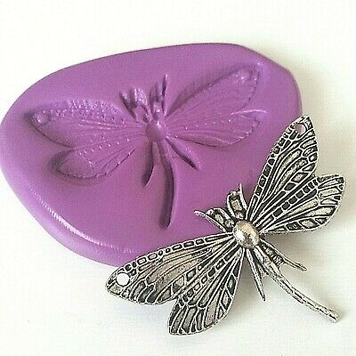 DRAGONFLY Silicone Mould 49 Mm Sugarcraft Cake Decorate Polymer Clay Sugarpaste • 5.90£