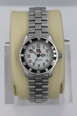 Tag Heuer 2000 Professional Sport SS Watch Womens WM1311 Black Silver White Coke • 295$