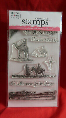 Crystalline Clear Mount Stamp Set Christmas Wise Men Camel New • 4.95£