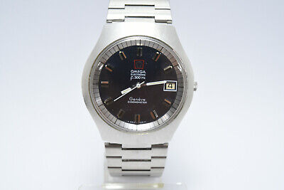 AU1299.95 • Buy Omega F300Hz Electronic Geneve Chronometer Cal.1250 - Blue Dial Mens Watch 1973