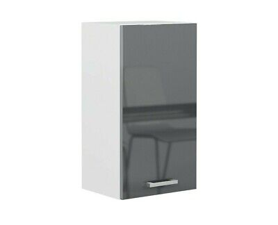 £74.95 • Buy Grey Gloss Kitchen Unit 40cm 400mm Wall Cabinet 1 Door Cupboard Soft Close Luxe