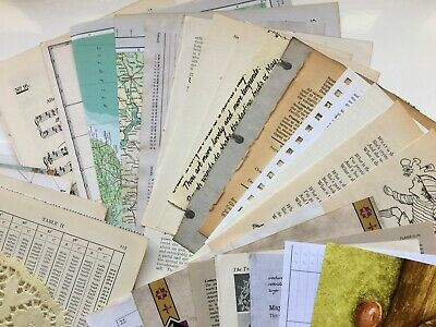 £12.99 • Buy 100+ Paper Sheets Vintage Pages/Music/Maps/Botanical/Science/French, Journaling