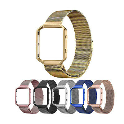 $ CDN13.46 • Buy For Fitbit Blaze Watch Band Strap+Frame Milanese Magnetic Steel Replacement