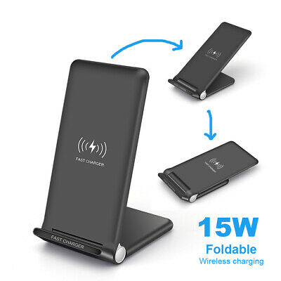AU22.37 • Buy AU 15W Qi Wireless Charger Dock Stand For IPhone 11 8 X XS Samsung S10 Note 10 9