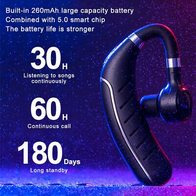 $11.99 • Buy Wireless Earbud Bluetooth 5.0 Ear Hook Headphone Sport Business Earpiece Headset