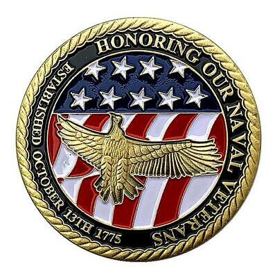 £6.51 • Buy US Military Navy Veteran Challenge Coin Commemorative Collectible Gift