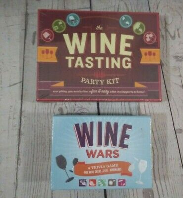 The Wine Tasting Party Kit And Wine Wars Trivia Game New Sealed • 25$