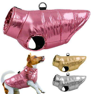 £8.49 • Buy Chihuahua Clothes Dog Winter Coat Waterproof Puffer Jacket Vest Apparel Pug Pink