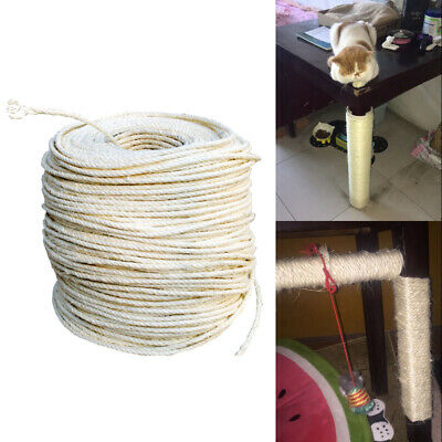 Sisal Rope For Cats Scratching Post Anti Cat Scratching Furniture Binding Rope • 3.18£
