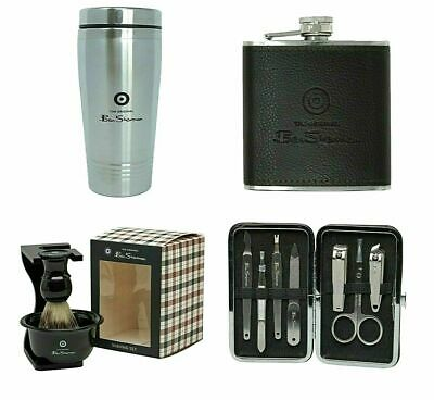 AU26.71 • Buy Ben Sherman Men's Accessories Gift Manicure Set Travel Mug Hip Flask Shaving Set