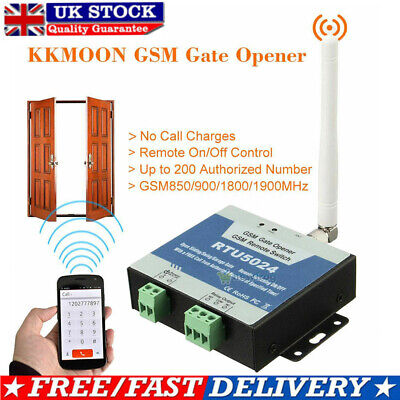 £16.99 • Buy GSM Gate Opener Wireless Door Access Free Call Remote Control By Phone RTU5024