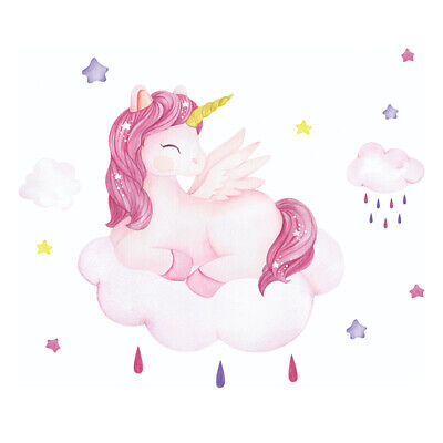 £5.69 • Buy Removable Unicorn Wall Sticker Decal Girl Kids Baby Room Mural