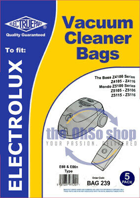 5x Dust Bags Vacuum Cleaner, Type: E66/E66N To Fit Zanussi Z3931 • 5.42£