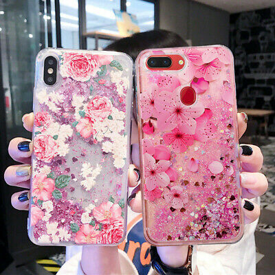 AU11.98 • Buy Bling Glitter Quicksand Clear Rubber TPU Case Cover For OPPO A73 AX5 AX7 Reno 2Z