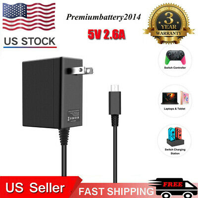 $8.99 • Buy Wall Charger For Nintendo Switch Portable AC Adapter With Power Cord Dock/Pro US