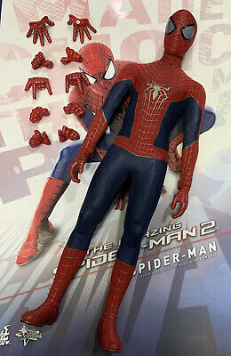Hot Toys MMS244 The Amazing Spider Man Spider-man 2 1/6 Spider Man Figure Only • 169.90$