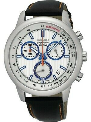 $ CDN129.73 • Buy SEIKO SSB209P1,Men's Chronograph,Stainless Steel Case,Leather Strap,date,100m WR