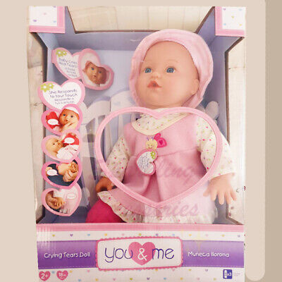 AU79.95 • Buy NEW You & Me Sweet Realistic Baby Doll Crying Tears Interactive Kids Toy Gift!