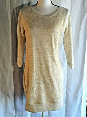 $12.99 • Buy Deb Clothing Women's Size XL Lace Front Knit Tunic Dress Off White Beige