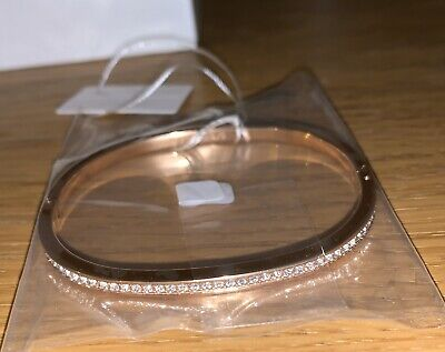 Calvin Klein Rose Gold Crystal Braclet Bangle Small Jewellery New Womens Vintage • 74.99£