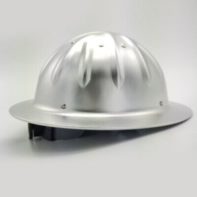 Full Brim Construction Hard Hat Safety Helmet ProtectionLightweight Aluminum • 22.39$