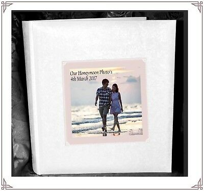 £39 • Buy OUR HONEYMOON  Tissue Interleaved Album Personalised Gift Present With Photo
