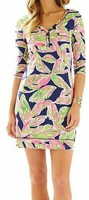 Lilly Pulitzer Size Medium Palmetto Dress Bright Navy In The Vias • 37.70$