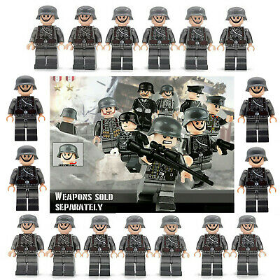 25pcs WW II German Soldiers + Officers Mini Figures Military Set Fit Lego • 22.99£