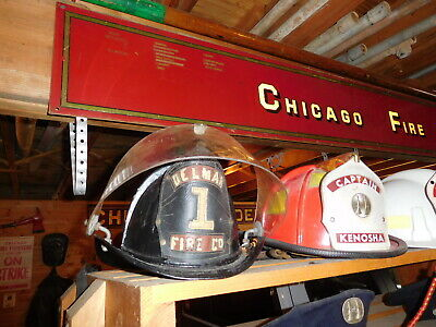 Vintage Cairns Aluminum Fire Helmet-delmare Fire Co. 1-must See!  • 225$